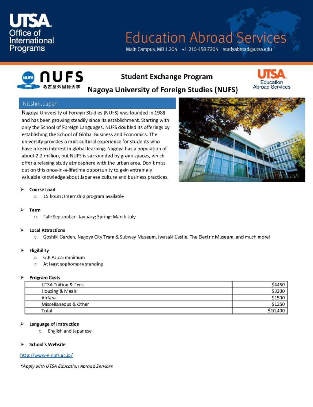 Programs > Brochure > Education Abroad Services